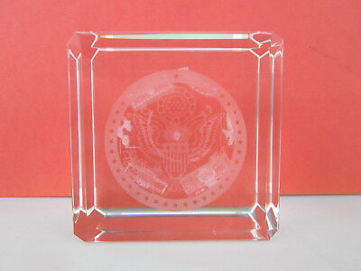 Washington DC 3D CRYSTAL CUBE PAPERWEIGHT Monuments Etched Glass Souvenir