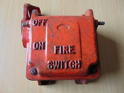 Vintage Antique Cast Iron Metal Industrial Main On Off Fire Switch