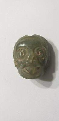Pre-Columbian Mayan Stone pendant from Mexico. 650 ad.