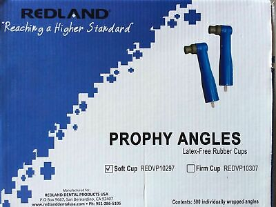 Redland Disposable Dental Prophy Angles Latex Free Soft Cups 500/Pack FDA