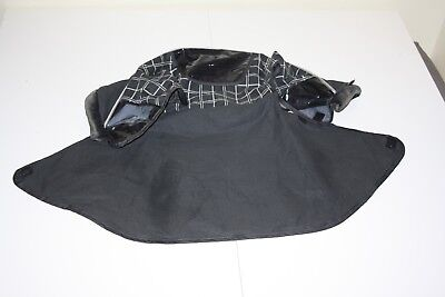 """Graco Sterling stroller """" hood fabric """" - grey and black"""