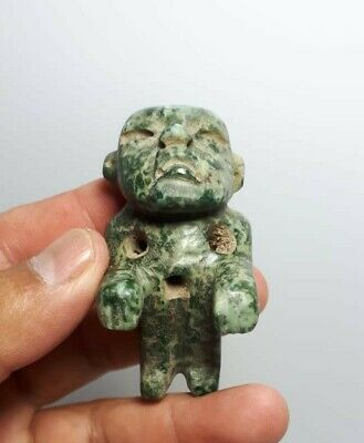Pre-Columbian Olmec stone figure from Mexico. 400 bc.