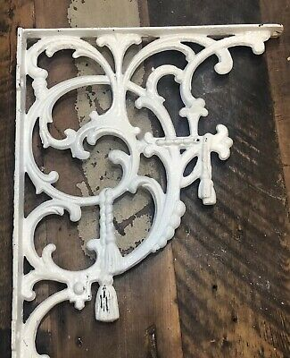 2 shelf bracket Cast Iron Rare Old Antique Victorian Gothic Heavy Duty