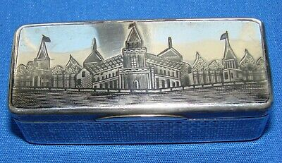 Gorgeous Antique Imperial Russian 84 Silver Snuff Box St. Petersburg Square