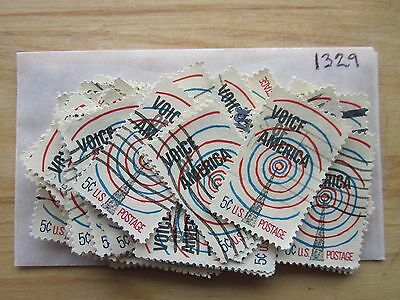 # 1329 x 100 Used US Stamps  Voice Of America Issue  see our other lots