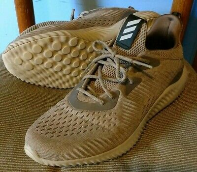 1f5102e90 Adidas Alphabounce EM Beige Tan Running Shoes Men s Size 10 BB9041