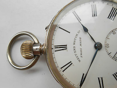 Antique Swiss Made Very Rare Silver West End Watch Co Pocket Watch