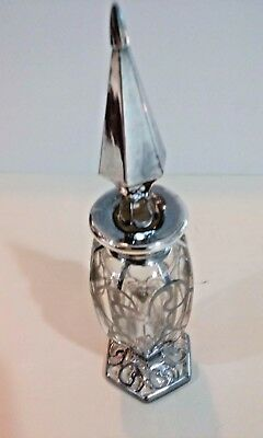 Antique Sterling Silver Overlay Perfume Bottle