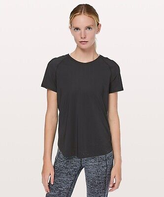 0c79dd5a5b815 Lululemon Women s Quick Pace Black Short Sleeve Tee - Size 6 -  89 MSRP -  NWT