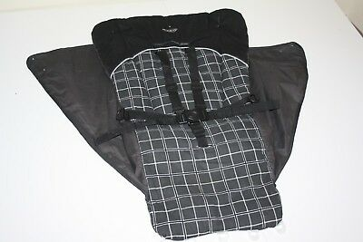 """Graco Sterling stroller """" seat fabric / cover and harness """" - grey and black"""