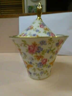 LINDNER BAVARIA.Floral style lidded canister.Made in Germany.