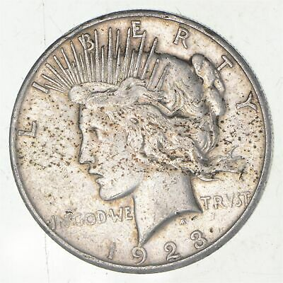 Early - 1923-S - Peace Silver Dollar - 90% US Coin *728