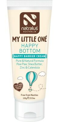 Natralus My Little One Happy Bottom Nappy Barrier Cream 100g Natural