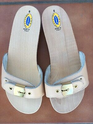 deef51c2e8bb (New) Dr Scholls Women s The Original Leather Wooden Sandals Made In Italy  SZ 6