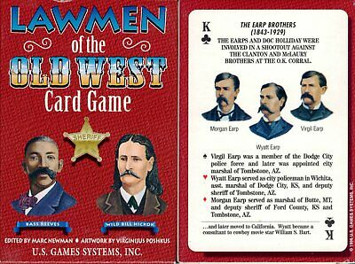 Lawmen of the Old West Playing Cards Game Bridge Size Deck USGS Custom New