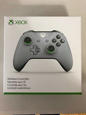 Microsoft Xbox One Gray and Green WL300060 Wireless Controller