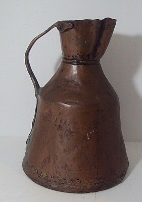 Antique Copper Hammered Handmade Water/Wine Pitcher/Jug