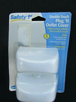 Safety 1St Double-Touch Plug 'N Outlet Cover 2-Pack - Mib