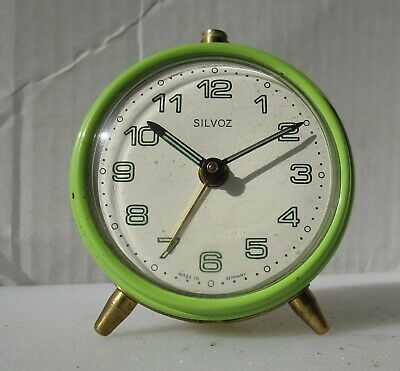 Neat Little 60's Lime Green Alarm Clock from SILVOZ