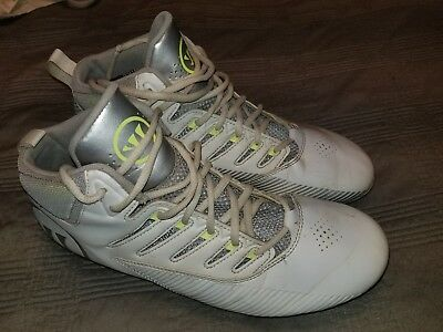 Warrior Men's Third Degree Mid Lacrosse Cleats, Size:10.5