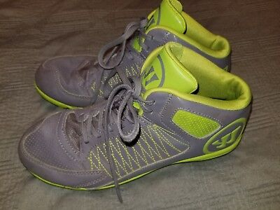 Warrior Vex 3.0 Size 6 Lacrosse Cleats Grey and Green