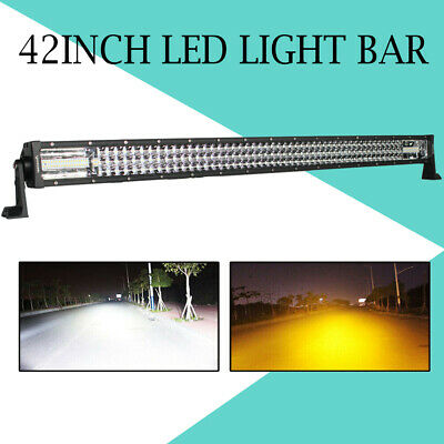 42inch 3360W LED Work Light Bar Spot Flood Off road Driving Fog Lamp ATV SUV 4WD
