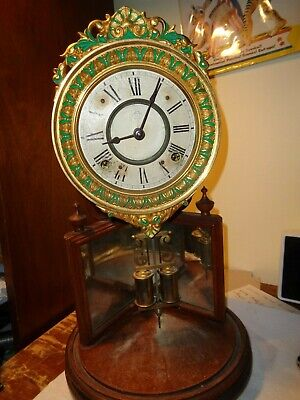 Antique-Ansonia-Crystal Palace #2-Mantle Clock-Ca.1880-To Restore-#T303