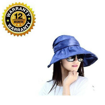 Rose Red Womens Sun Visor Hats Beach Golf Wide Brim Hats Ladies UV Protection