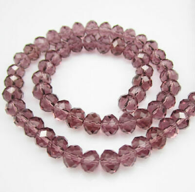 3x4mm 300PCS Pink Faceted Crystal Abacus Loose beads Gemstone Z.041721