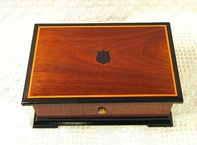 Vintage Reuge Thoren's Music Box Case Only In Box  - Swiss -