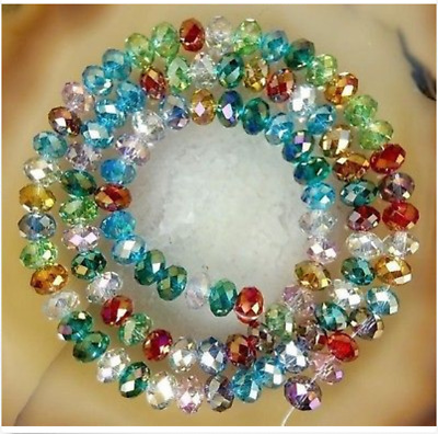 4x6mm 200PCS Multicolour Faceted Crystal Abacus Loose beads Gemstone Z.041732