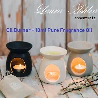 Premium Quality Essential Oil Burner + Choice of 10 ML Pure Fragrance Oil