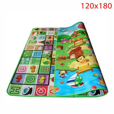 Waterproof Floor Play Mat Rug Child Infant Baby Kids Crawling Game Mat Two-Side