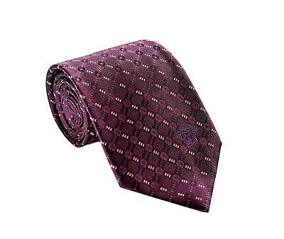 Versace Men/'s Geometrical Small Diamond Patterned Silk Necktie