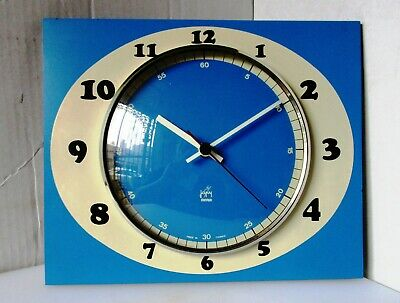 Wonderful As New 60's Blue and White Wall Clock from JAPY