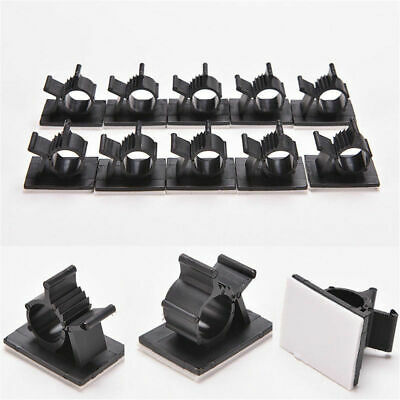 10PC Cable Clips Self-Adhesive Cord Management Wire Holder Organizer Clamp U3M4V