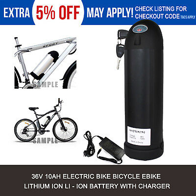 36V 10.4AH Black Bottle Lithium Li-Ion Battery Pack for Electric Bicycle E-Bike