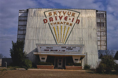 Skyvue Drive-in Movie Theater Dothan AL Alabama 1979 View 8x12 photo
