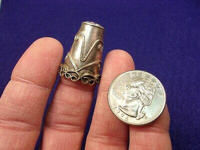 #1 of 11, FANCY OLD VTG ANTIQUE STERLING SILVER THIMBLE - LARGE, MADE IN MEXICO