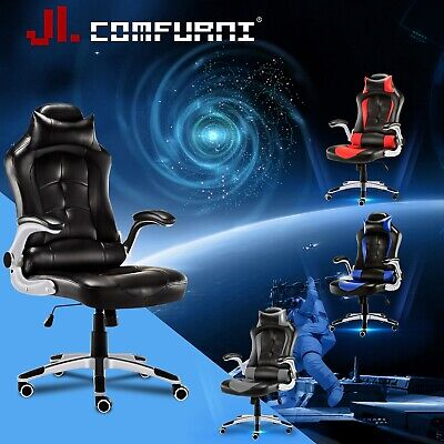 Executive Home Office Chair Pu Leather Swivel Gaming Racing Computer Desk Chair