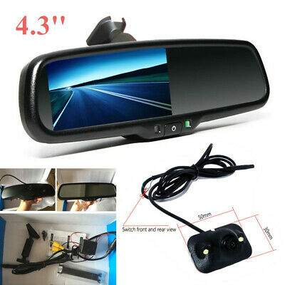 "4.3"" Auto Dimming TFT LCD Display Screen Rear View Mirror Monitor w/ Rear Camera"