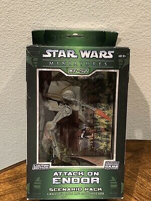 Star Wars Miniatures AT-ST Attack on Endor Scenario Pack Limited Edition NIB
