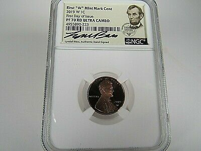 2019 W Lincoln Shield Cent  NGC Pf 70 Rd UCam First Day Issue,Lyndal Bass Signed