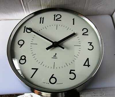 Wonderful Large Chrome Metal Wall Clock from JAZ - Model TRANISTOR