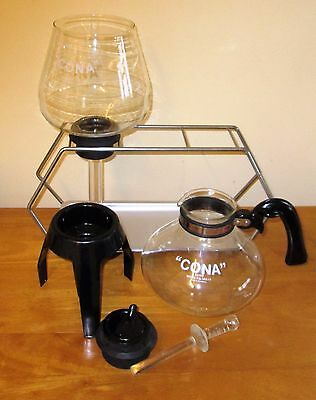 CONA COFFEE MAKER FB103/4 KITCHEN MODEL 3 PT CAP.70`s 80`S + TWIN STAND