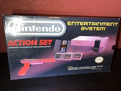 Nintendo Entertainment System Action Set Gray Console Nes Game System New Unused