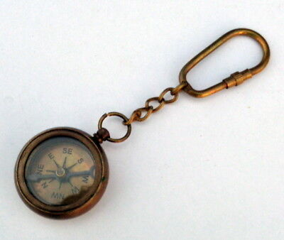 Collectible Brass Compass key Chain Nautical Key Ring Best Gift Marine Maritime