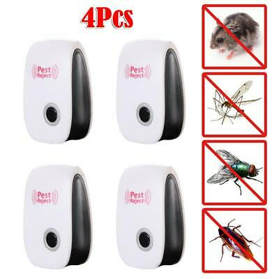 4pcs Electronic Ultrasonic Pest Reject Mosquito Cockroach Mouse Killer Repeller