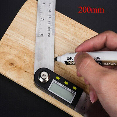 2 In1 Electronic Protractor Digital Goniometer Angle Finder Meter Gauge Ruler