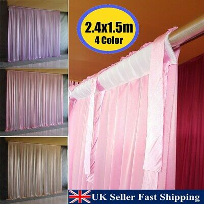 2 4M X 1 5M Colorful Drape Curtain Stage Backdrop Photography Background  Wedding